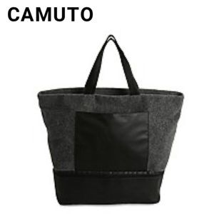 🆕 Grey Felt Tote Travel Bag